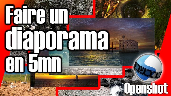 Faire un diaporama photo facilement et rapidement avec Openshot -