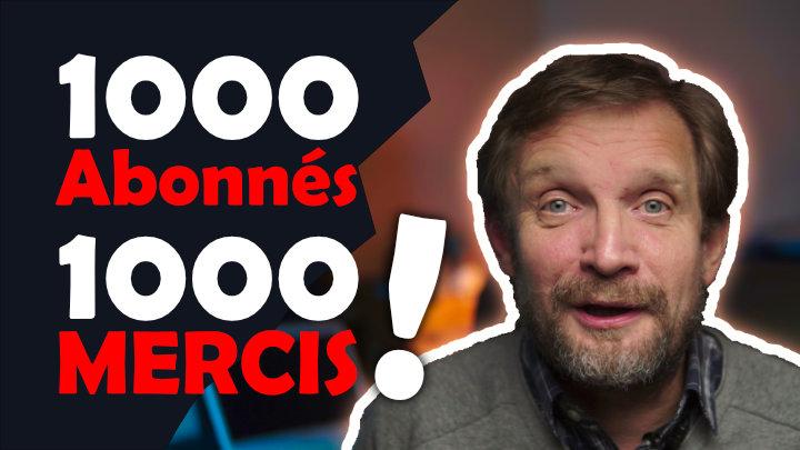 1000 Abonnés sur la chaine Youtube Solutions Digitales -